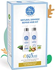 The Moms Co. Natural Damage Repair KA + Hair Care Kit with Hair Shampoo & conditioner with Keratin and Mor