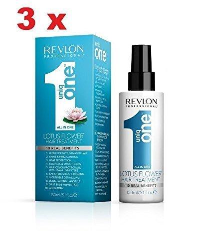 3 x Revlon Uniq One Trattamento Fleur Nuovo 150ml