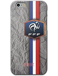 URCOVER Coque Equipe de France pour Apple iPhone 6 Plus / 6s Plus | Championnat d? Europe Spécial UEFA EURO 2016 | Coque Sportif Footbal Cover Housse Étui Drapeau National
