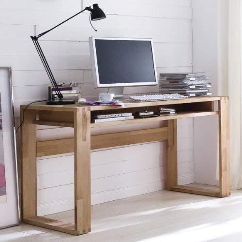 Unbekannt Büro Schreibtisch Kernbuche massiv geölt Arbeitstisch Büromöbel Bürotisch