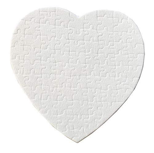 10 White Sublimation Heart Shape Matte Finish Surface Sublimation Jigsaw Puzzle