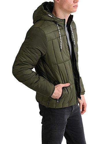 BLEND Santiago Herren Jacke Steppjacke mit Kapuze aus hochwertiger Materialqualität Ivy Green (77086)