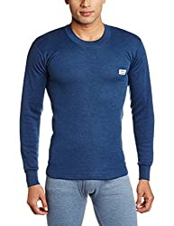 Rupa Thermocot Mens Synthetic Thermal Top (8903978492162_VOLCANO R-N F-S -100_Blue)