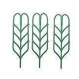Funie 3pcs giardino traliccio per piante rampicanti mini supporto per piante in vaso a forma di foglia Vines verdure Vining fiori patio climbing Trellises