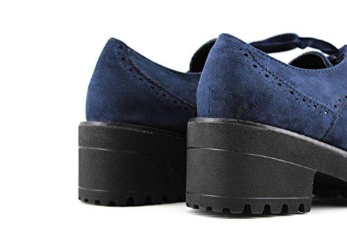 Modelisa, Zapatos Azules Con Cordones De Mujer