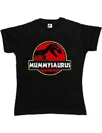 Fancy A Snuggle Mummysaurus Mum Ma T-Rex Old Dinosaur Womens T-Shirt
