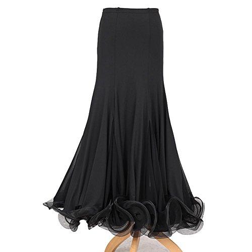 Wanson Wettbewerb Kleider Standardtanz Kleid Milch-Seide Tüll Tanzbekleidung Damen Performance Unter ()