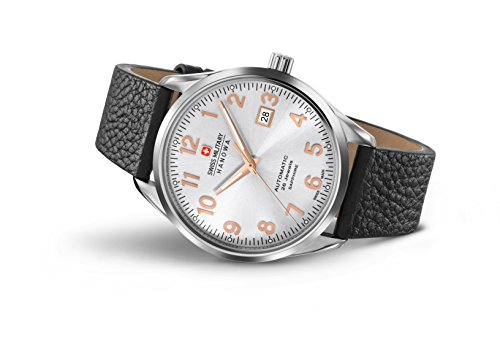 SWISS MILITARY-HANOWA Herren Analog Quarz Uhr mit Leder Armband 05-4287.04.001