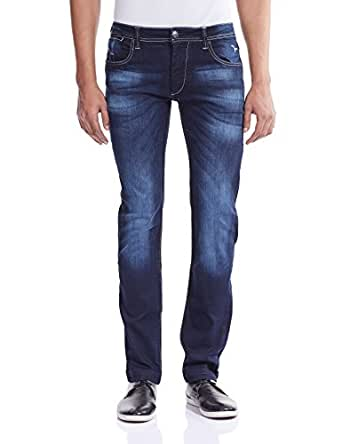 Flying Machine Men's Jackson Skinny Fit Jeans (FMJN3563_Blue_38W x 33L)