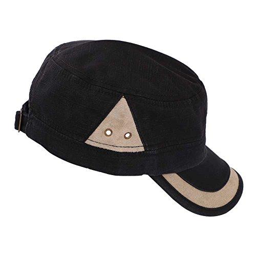 Lontg moda unisex cappelli Flat Top cappello berretto militare cadetto  cuciture in cotone lavato Peak baseball c0dc874c801f