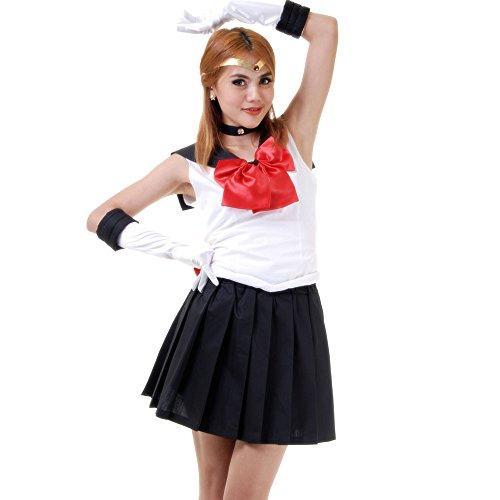 Pluto Kostüm Japanische Schuluniform Baumwolle L (Erwachsenen-pluto-kostüm)