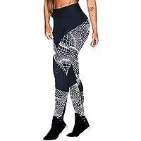 Pantalón Largos de chándal para Mujer Cintura Alta Pantalones Yoga Deportivas Impresión de Rayas Leggings de Fitness Mujer Gym Yoga EláSticos para Running Pilates Gusspower