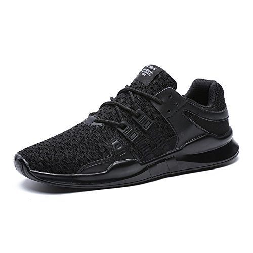 Summer Men Shoes Plus Size Casual Shoes for Men Canvas Shoes Breathable Laces Flats Zapatillas Hombre XX-125 Black 13 ()