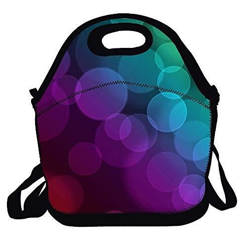 Bag for Men Women Adults Kids Toddler Nurses with Adjustable Shoulder Strap - Rainbow Light Shadow Best Travel Bag