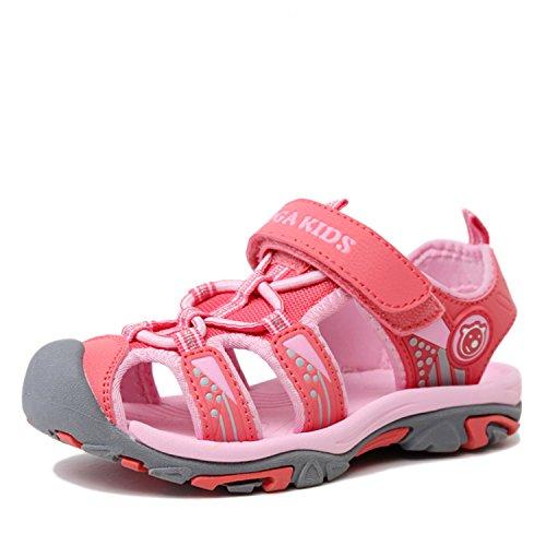n Kinder Outdoor Sports Trekking Schuhe Atmungsaktiv Schnell Trocknend Mädchen Strand Schuhe rutschfest Breathable Pink Gr.25 ()