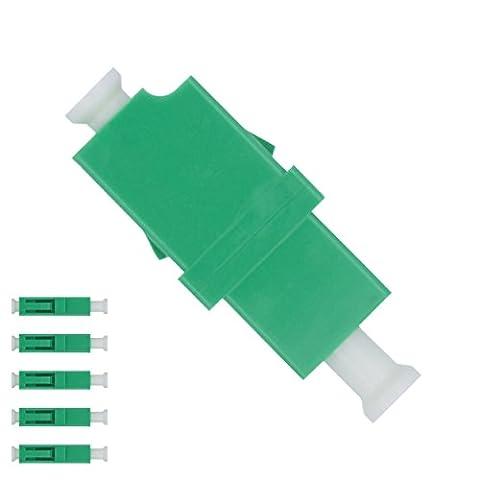Adaptateur pour fibre optique LC vers LC Monomode APC Simplex - (Lot de 5) - Beyondtech Traversées Fibre Optique / Raccords Kit