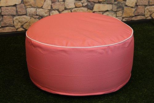 Sitzhocker / Sitzkissen - OUTDOOR POUF - Höhe ca. 25 cm Breite ca. 55 cm - schmutzabweisend und wasserabweisend - LOTUS EFFEKT - wetterfest - leicht faltbar und zu verstauen für Reisen, Camping oder Konzerte/ Festivals - ( OUTDOOR ), perfekt geeignet als Bodenkissen, Bodensack, Boden - Sessel oder Sitzsack, auch schön als Terrassen - Stuhl, Wintergarten - Möbel / Sitzkissen / Sitzsack mit Lotus - Effekt für Haus, Camping und Garten , hier ein tolles Motiv : (Rosa)