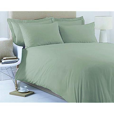 Love2Sleep 50: 50poli algodón: algodón de calidad verde sábana bajera–cama King Size