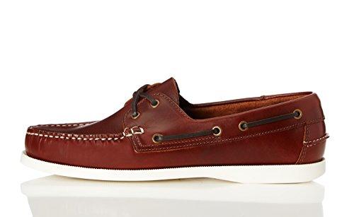 FIND Chaussures Bateau Homme Marron (Cognac)
