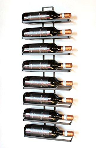 DanDiBo Weinregal Metall Schwarz Wandmontage 4-Wine beliebig erweiterbar 2er Set Flaschenständer...