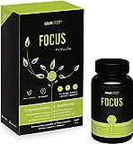 BRAINEFFECT FOCUS | Natürlicher Booster mit Vitamin B5 für Konzentration und Gedächtnisleistung | 60 Kapseln | OHNE Koffein | mit CDP-Cholin | Vegan