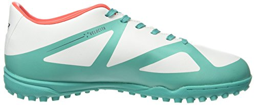 Umbro Velocita Iii Club Tf, Chaussures de Football Homme Multicolor (Dawn Blue/Carbon/Fiery Red/Spectra Green Epe)