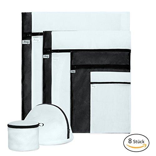 Amazy Wäschenetz Set (8-tlg.) – Die Praktischen Wäschebeutel mit optimiertem Reißverschluss garantieren Eine Besonders schonende Wäsche – für Feinwäsche, empfindliche Textilien und Schuhe