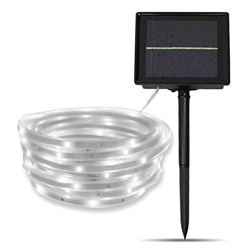 Tira de LED Lámparas Solares,SUAVER 16.4ft Impermeable Luces de Cadena,Luces Solares Cadena,tira de luz solar,Luces decorativas para jardín,patio y árboles