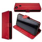 caseroxx Tasche Case Hülle Bookstyle-Case für Gigaset GS280 in rot