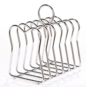 Stainless Steel 6 peice Toast Rack 11.5cm X 9cm X 7.5cm With Carry Handle