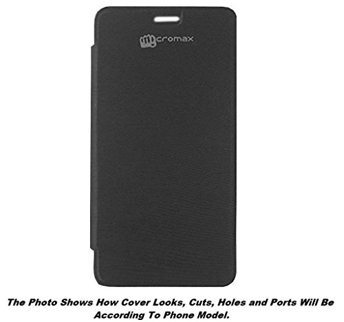 Micromax Canvas Spark 3 Q385 Flip Cover (Black) by Delkart India