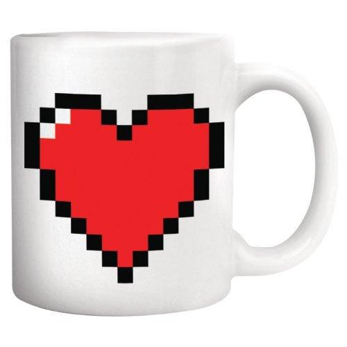 Kikkerland CU44 Wärmeeffekt-Tasse Pixel Heart
