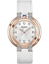 2975cb8b53c5 Bulova Reloj Analógico para Mujer de Cuarzo con Correa en Cuero 98R243