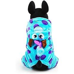 PETCUTE Víspera de Todos los Santos Perro Wram de Invierno Capucha Ropa Mascota Puzzle Bobble Disfraz Traje Navidad Capa Vestir