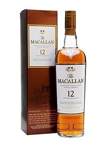 Macallan 12 Year Old Sherry Oak Single Malt Scotch Whisky, 70 cl