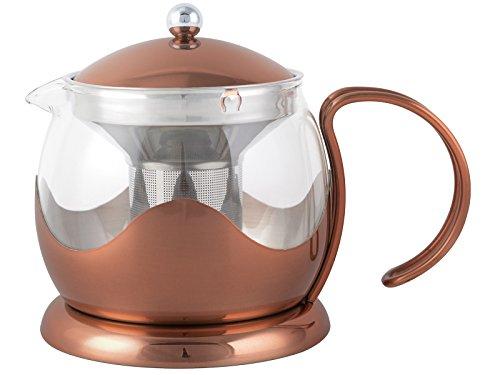 Creative Tops 1200ml Kupfer-und-Glas-Teekanne La Cafetiere Origins mit Teefilter-Korb