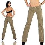 Replay Chino Damen Jeans Hose Bootcut WV515 .034 8565.401 Khaki W27/L32