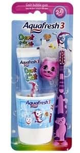 Aquafresh - Popsy Kit Dentifrice + Brosse  Dents + Gobelet - lot de 2
