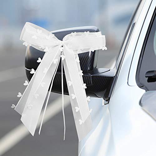 FAVENGO 30 Stück Schleifen Hochzeit Deko Vintage Antennenschleifen Autoschleifen Set für Auto Hochzeit Deko Tischdeko Zimmerdeko