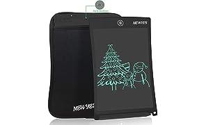 """NEWYES 8,5"""" Tableta de Escritura LCD, Tableta Gráfica, Tableta de Dibujo portátil, Adecuada para el hogar, Escuela u Oficina, con Funda (Negro)"""