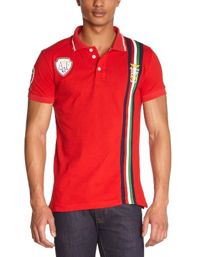 Gangster Unit Herren Polo Shirt Rot (Red)