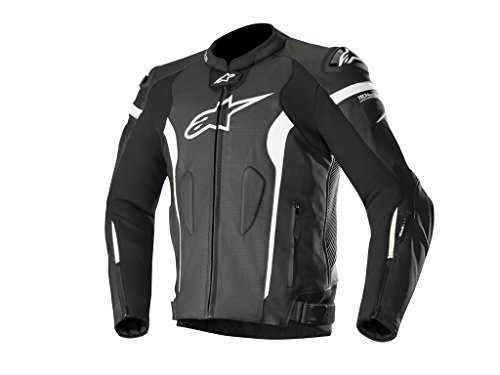 Alpinestars Motorradjacke Missile Tech Air Comp, BLACK WHITE AIR, 58