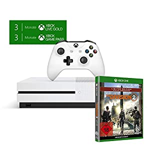 Xbox One S 1TB Konsole – Starter Bundle inkl. 3 Monate Xbox Game Pass + 3 Monate Live Gold Mitgliedschaft + Tom Clancy's…