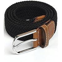 XIANGYINGZHIJIA Cinturón de Cinturón de Cinturón de Hebilla de Cinturón de Moda Cinturón de Correa de Lona, Negro