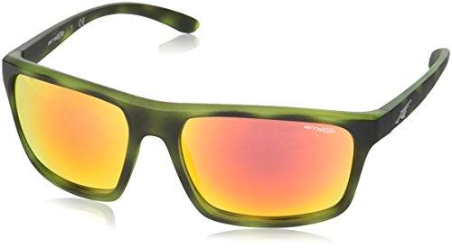 Arnette 0an4229 24656q, occhiali da sole uomo, verde (matte green havana/redmultilayer), 61