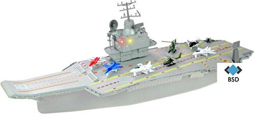 70CM AIRCRAFT CARRIER - Flugzeugträger Modell - Flugzeugträger Spielzeug mit Militärflugzeuge, Hubschrauber