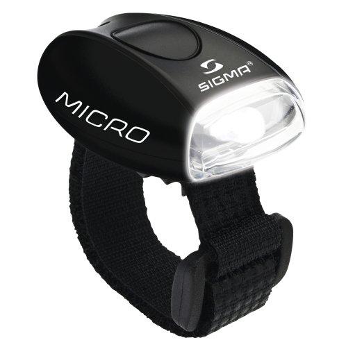 Sigma Sport Beleuchtung Micro - Frontleuchte LED weiß, permanent leuchtend / blinkend, 20 g, spritzwassergesch&uumltzt, Fahrradlampe, Sicherheits-Leuchte, Helmleuchte
