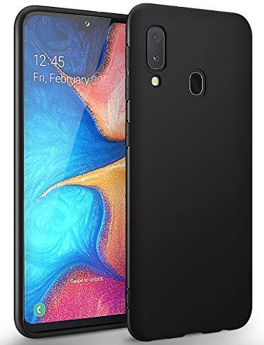 BENNALD Hülle für Samsung Galaxy A20e Hülle, Soft Silikon Schutzhülle Case Cover - Premium TPU Tasche Handyhülle für Samsung Galaxy A20e (Schwarz,Black)
