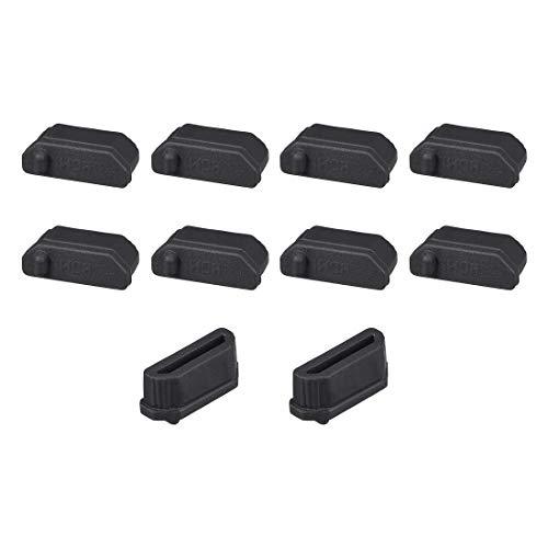 ZCHXD Silicone TV HDMI Male Port Anti-Dust Stopper Cap Cover Black 10pcs