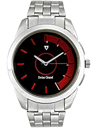 Swiss Grand SG-1162 Silver Coloured With Silver Stainless Steel Strap Analog Quartz Watch For Men